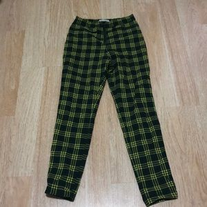 Green plaid pants! Only worn once